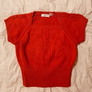 Liz Claiborne vintage red knit cropped sweater